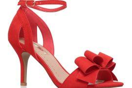 Miss KG 'Kaiden' red mid-heeled sandals