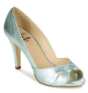Jonak 'Laura' metallic peep toes