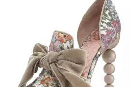 Tory Burch Clara Floral d'Orsay Bow Pump