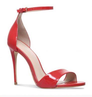 Carvela Kurt Geiger red patent 'Glimmer' sandals