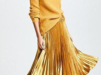 English factory pleated midi skirt